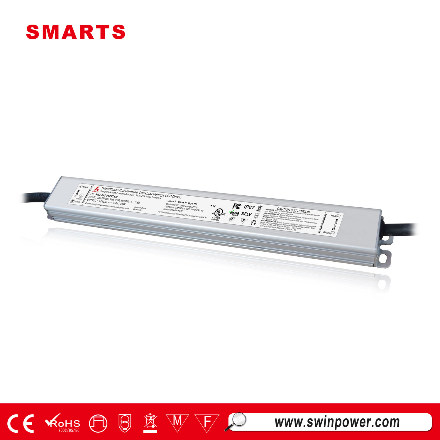 60W led driver constant voltage triac