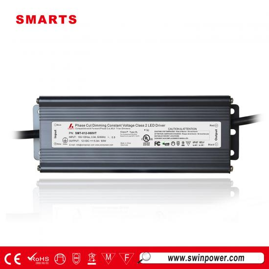 12V 60W triac dimmable led driver