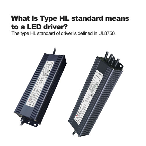 What is Type HL standard means to a LED driver?