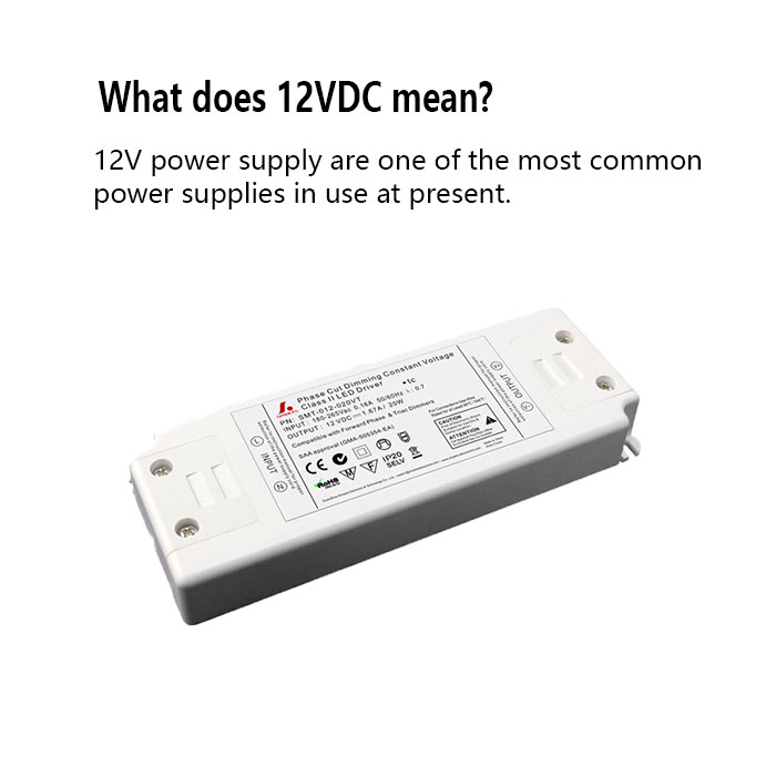 What does 12VDC mean?