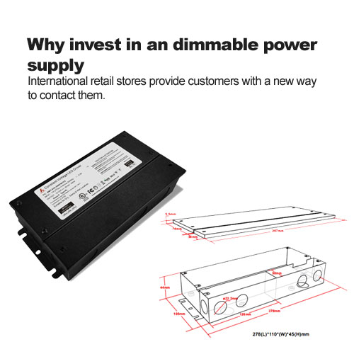 Why invest in an dimmable power supply